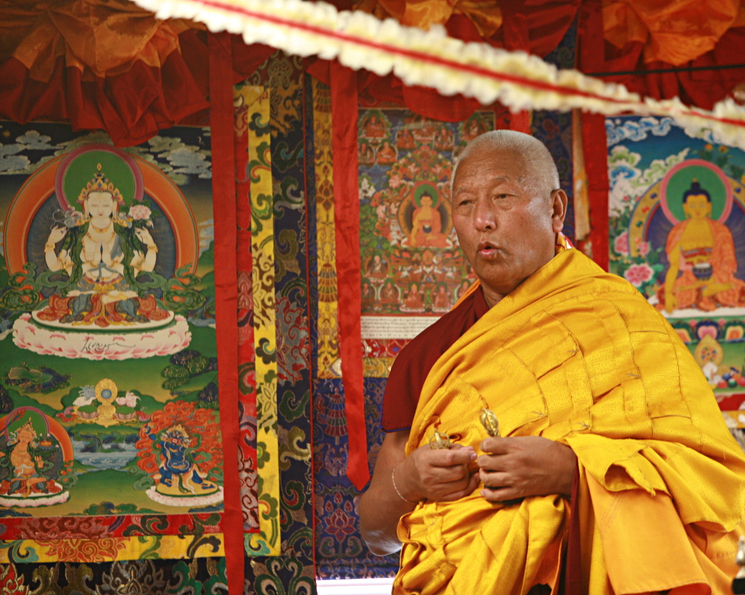 """A """"Fire Puja"""" ritual and blessing of Tibetan-American sacred objects whose origin dates back to the 15th century is performed in America for the first time by visiting Gyuto monks."""