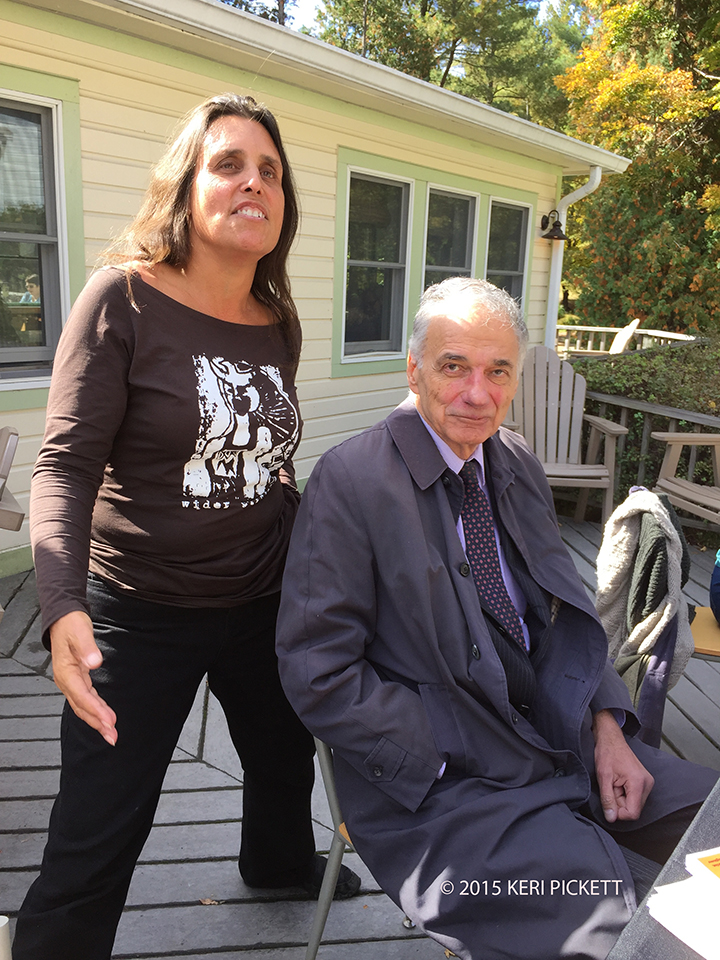 Winona LaDuke and Ralph Nader at the Omega Institute in New York. Photo by Keri Pickett